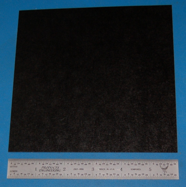 "Garolite Sheet, Grade XX, .032"" (.81mm), 6x6"" (Black)"