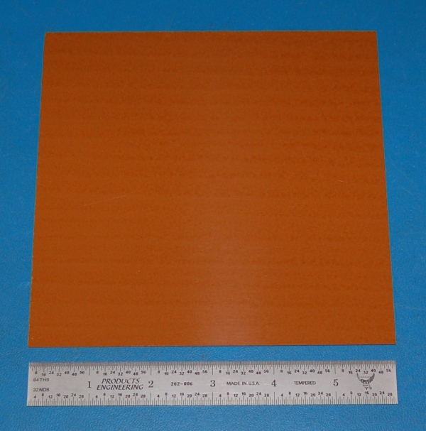 "Garolite Sheet, Grade XX, .032"" (.81mm), 6x6"" (Tan)"
