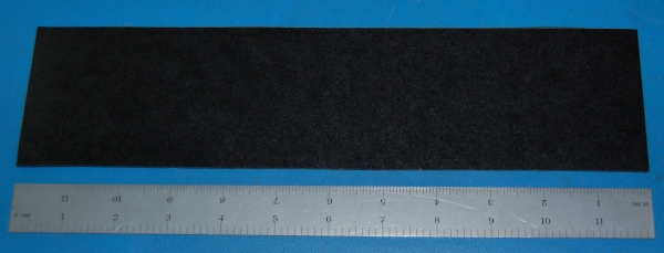 "Garolite Sheet, Grade XX, .063"" (1.6mm), 12x3"" (Black)"