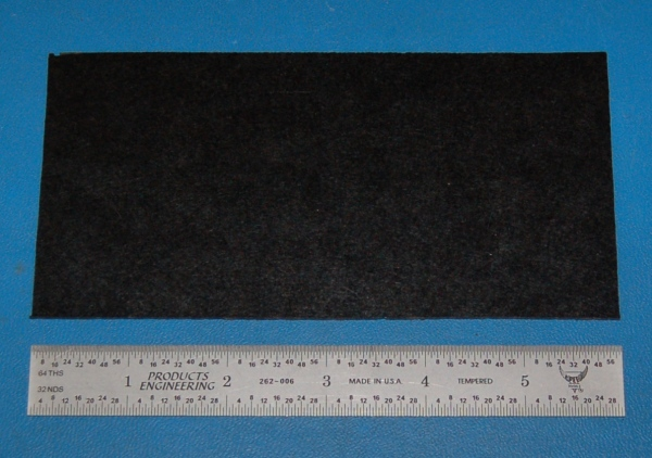 "Garolite Sheet, Grade XX, .063"" (1.6mm), 6x3"" (Black)"