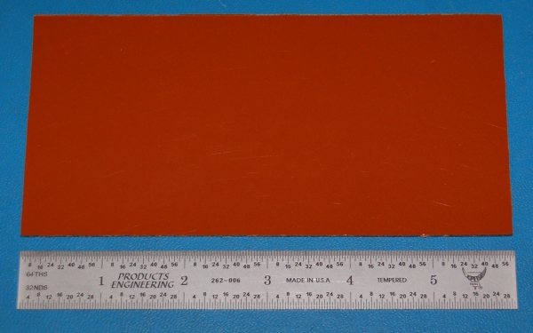 "Garolite Sheet, Grade XX, .063"" (1.6mm), 6x3"" (Tan)"