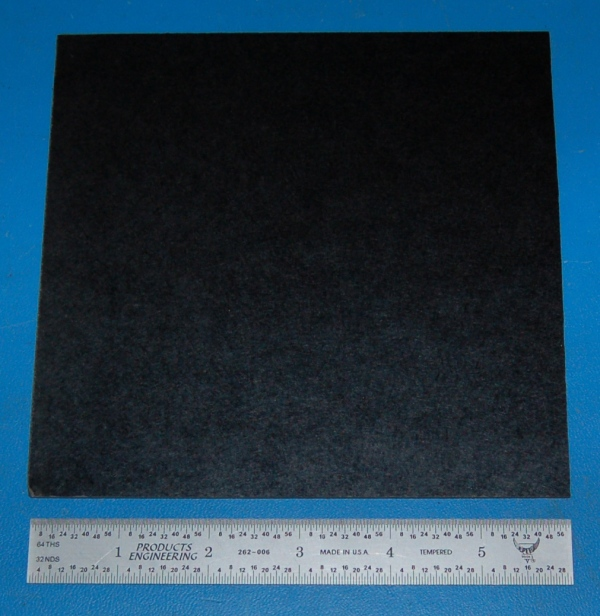"Garolite Sheet, Grade XX, .063"" (1.6mm), 6x6"" (Black)"