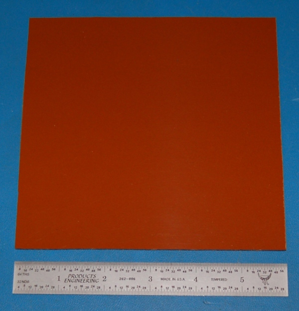 "Garolite Sheet, Grade XX, .063"" (1.6mm), 6x6"" (Tan)"