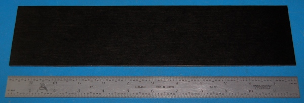 "Garolite Sheet, Grade XX, .125"" (3.2mm), 12x3"" (Black)"