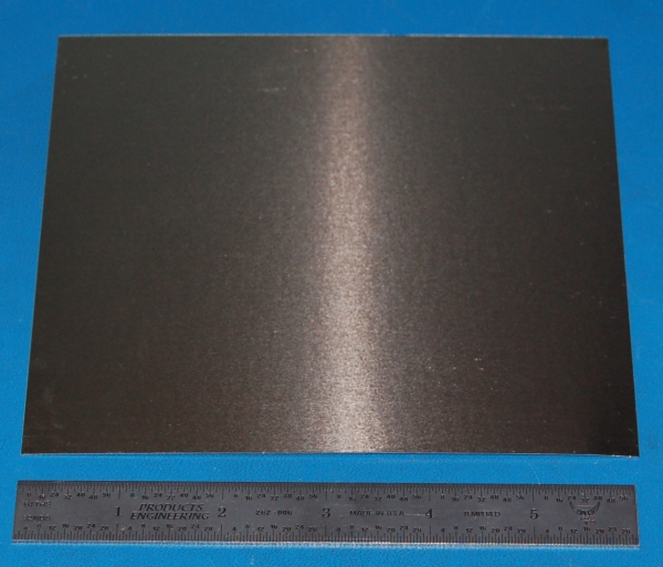 "Invar (Alloy 36) Sheet, .010"" (.25mm), 6x6"""