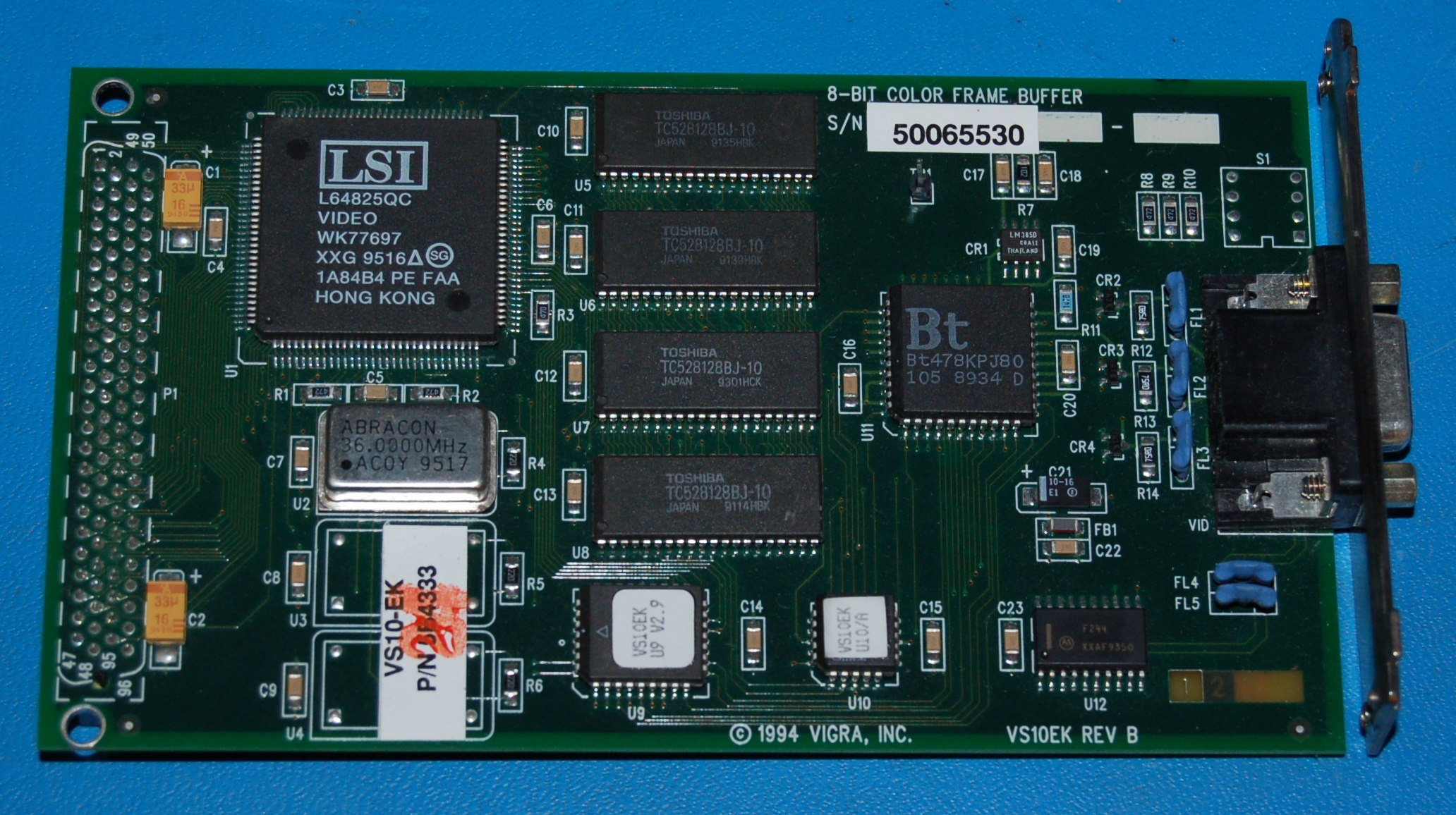 Vigra VS10EK 8-Bit Color SBUS Frame Buffer (SGI / SPARCStation)
