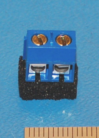 Screw Terminal Block, 5mm, #22 to #14 AWG, 2-Position (10 Pk)