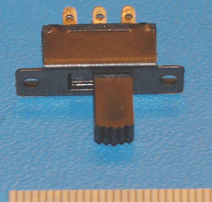 Slide Switch, 8x16mm Cutout, DPDT, On-On