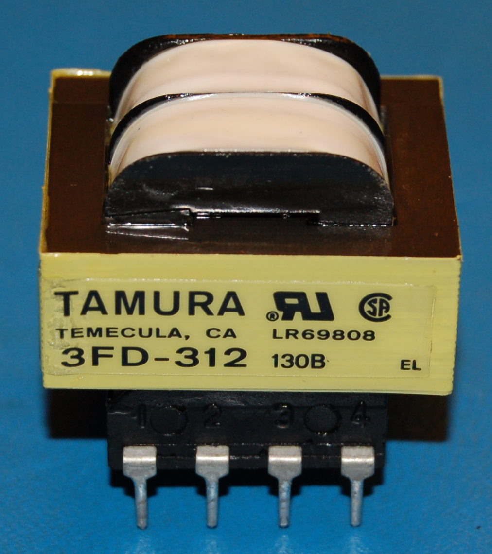 Tamura Power Transformer, 115V to 6.3V / 12.6V (2.4VA)