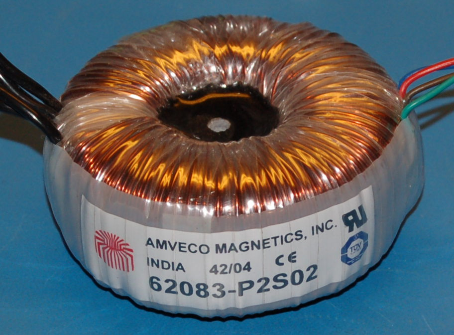 Toroidal Power Transformer, 115V/230V to 15V/30V (50 VA)