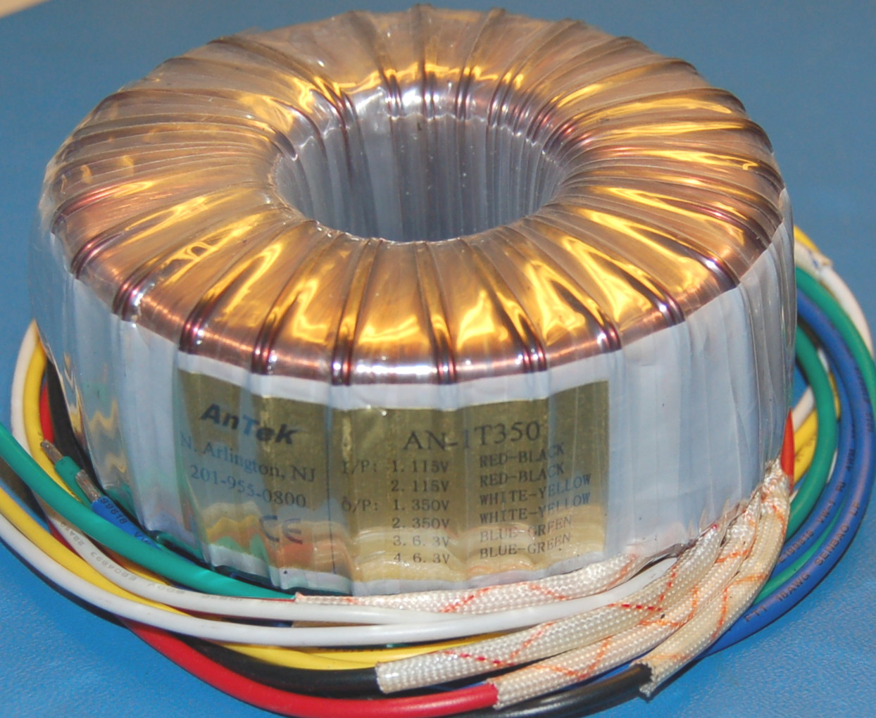 Toroidal Tube Amp Power Transformer, 115V/230V to Dual 350V and 6.3V (100 VA)