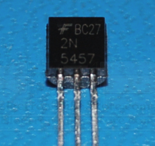2n5457 N-Channel JFET, 25V, 10mA, TO-92