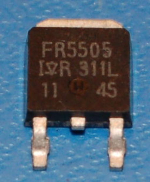 IRFR5505 P-Channel Power MOSFET (HEXFET), 55V, 18A, D-Pak (5 Pk)