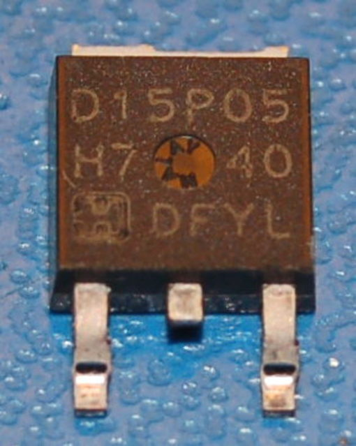 RFD15P05 P-Channel Power MOSFET, 50V, 15A, TO-252AA
