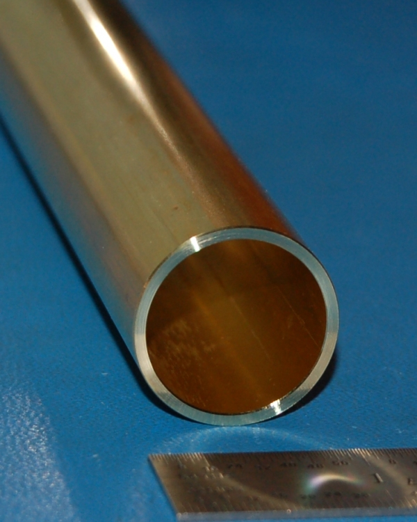 "Brass 260 Tube, 1.000"" (25.4mm) OD x .065"" (1.7mm) Wall x 6"""