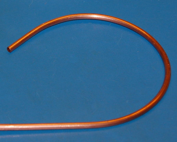 "Copper 122 Tube, .188"" (5mm) OD x .030"" (.8mm) Wall x 1' (Cut-to-Length)"