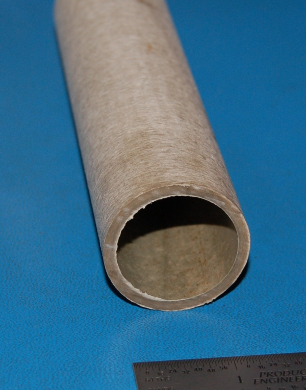 "Vulcanized Hard Fiber Tube, 1.5"" (38mm) OD x .125"" (3mm) Wall x 6"""