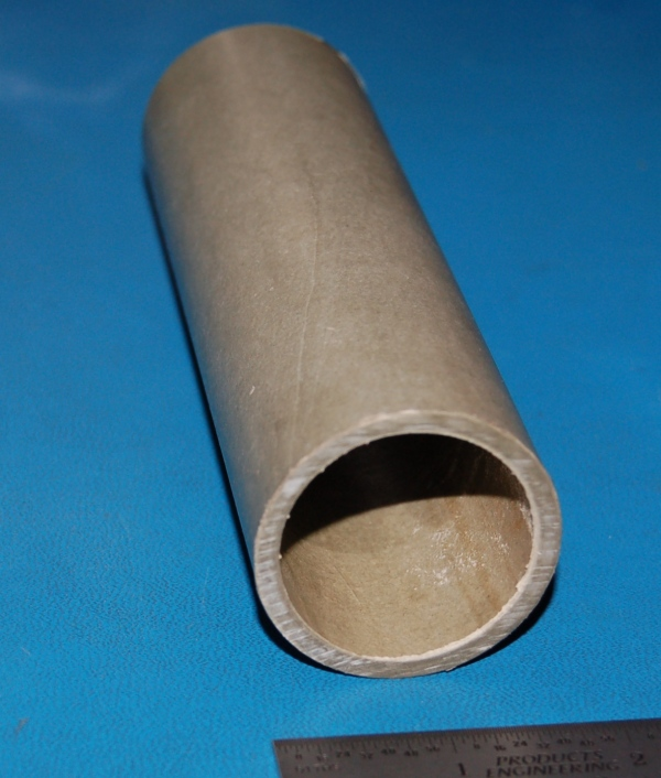 "Vulcanized Hard Fiber Tube, 1.75"" (45mm) OD x .125"" (3mm) Wall x 6"""
