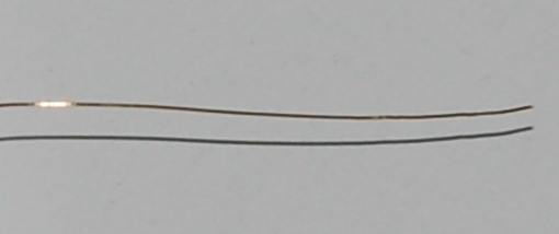 "Gold Wire (99.99% Au), .008"" (.2mm) x 1"""
