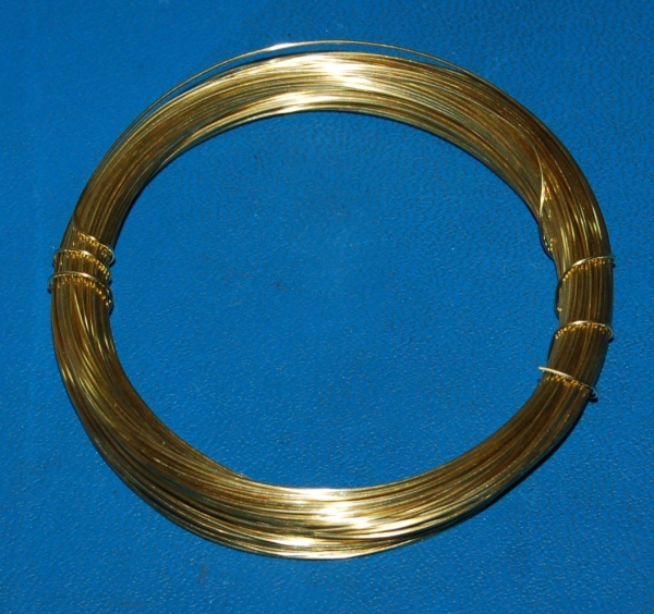 "Brass 260 Wire #20 (.032""/.81mm) x 25'"