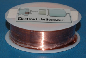 "Solid Bare Copper Wire #34 (.006""/.16mm) x 2000'"