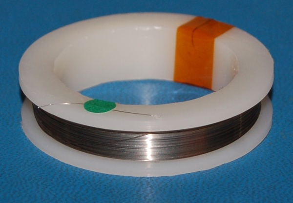 "Kovar-Clad Copper Wire, Ultra-Fine (.0012""/.03mm) x 100'"