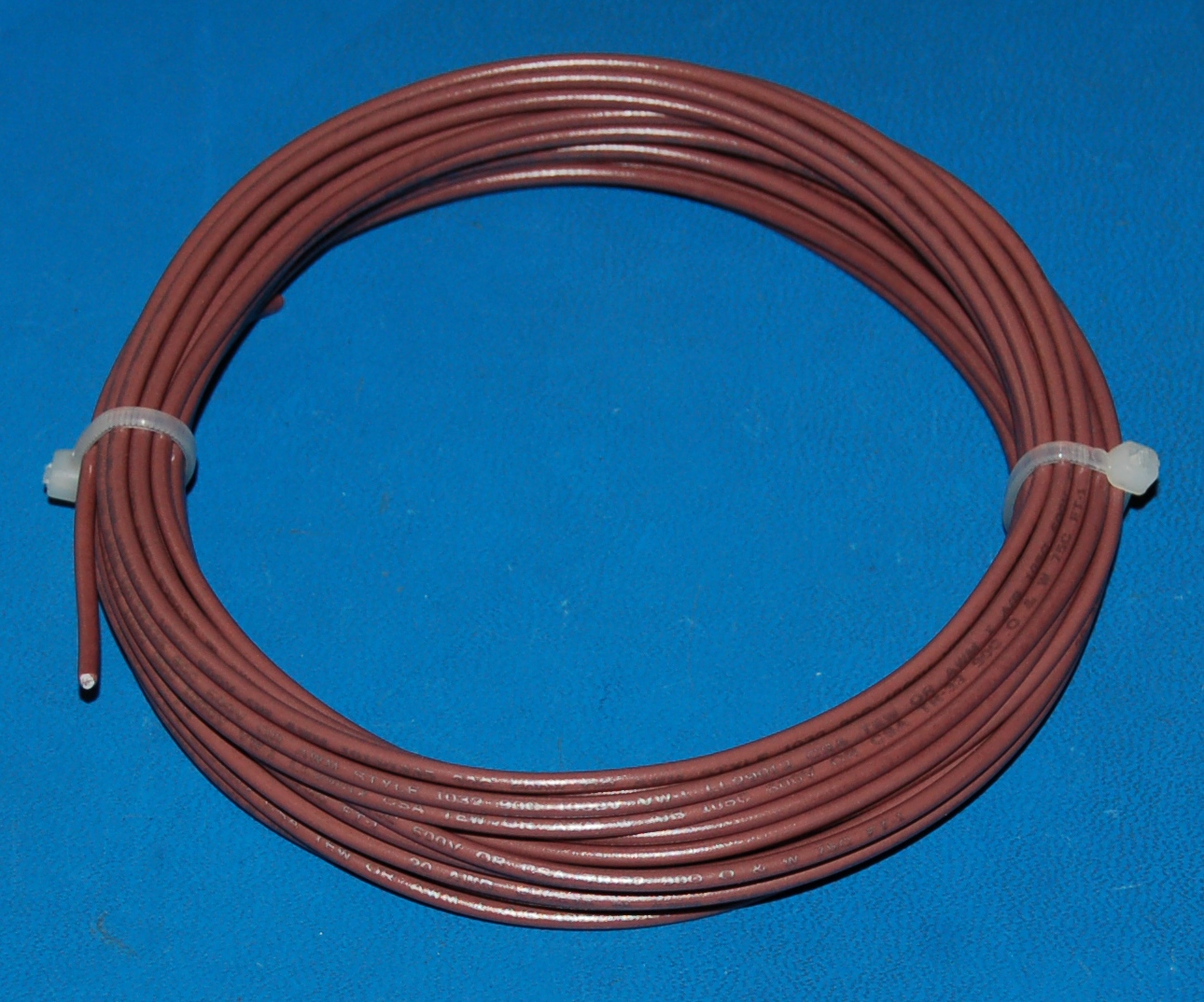 Solid Tinned Copper Wire, 600V, #20 AWG x 25' (Brown)