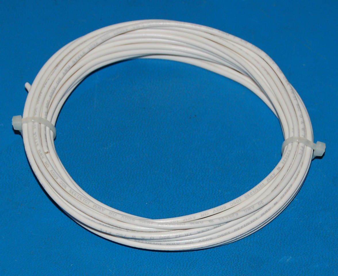 Solid Tinned Copper Wire, 600V, #20 AWG x 25' (White)