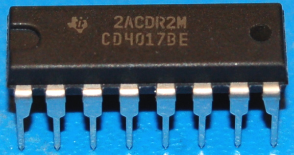 4017BE 10-Output Decade Counter / Divider, DIP-16