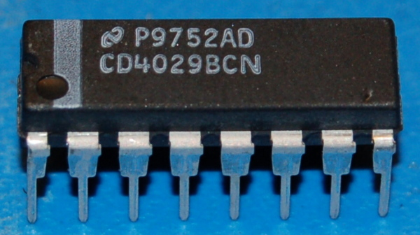 4029B CMOS Presettable Up/Down Counter, DIP-16