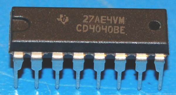 4040BE CMOS Ripple-Carry Binary Counter/Divider, DIP-16