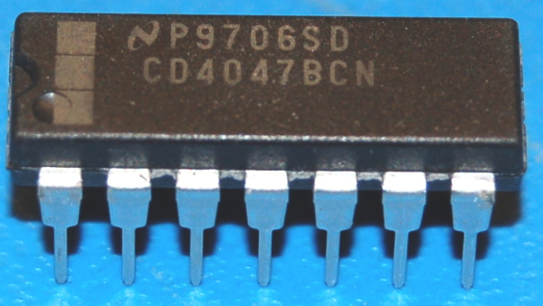 4047BCN Low-Power Monostable/Astable Multivibrator, DIP-16