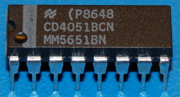 4051BCN Single 8-Channel Analog Multiplexer/Demultiplexer, DIP-16