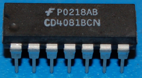4081B CMOS Quad 2-Input AND Gate, DIP-14
