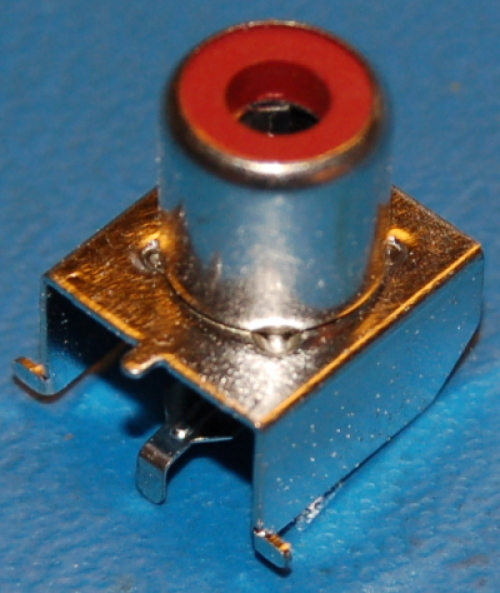 RCA Connector x PCB Surface (Right-Angle)