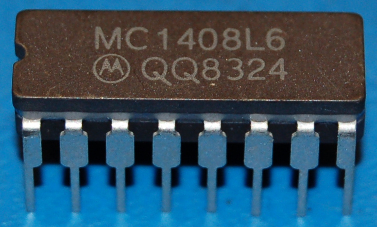 MC1408L6 D/A Converter with Serial Interface, DIP-16