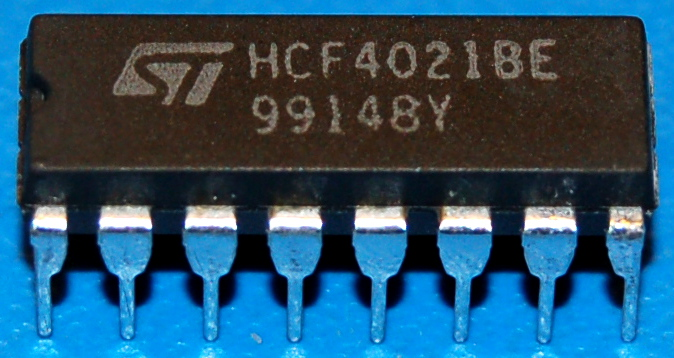 4021BE CMOS 8-Stage Static Shift Register, DIP-16
