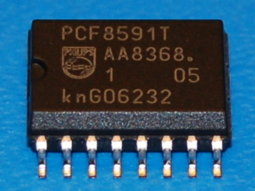 PCF8591T 8-bit A/D and D/A Converter with Multiplexer, I2C Interface