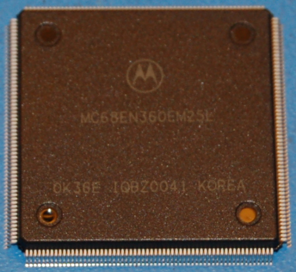 Freescale MC68EN360 QUICC SoC (System-on-a-Chip) with Ethernet, FQFP-240