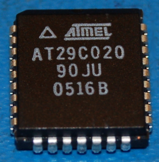 AT29C020-90JU Flash Memory, 2Mb (256K x 8), PLCC-32