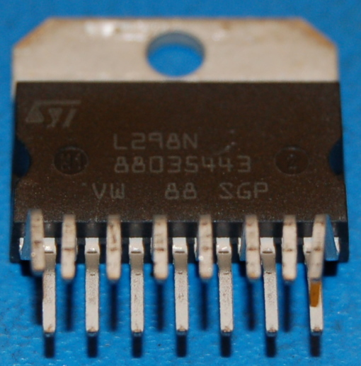 L298N Dual Full-Bridge Driver, 46V, 4A, Multiwatt-15