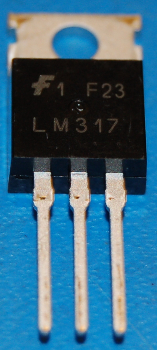 LM317 Voltage Regulator, Positive Adjustable 1.2-37V, 1.5A, TO-220 (10 Pk)