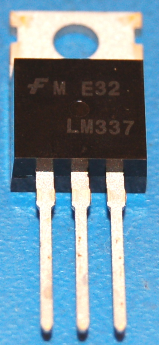 LM337 Voltage Regulator, Negative Adjustable 1.2-37V, 1.5A, TO-220 (10 Pk)