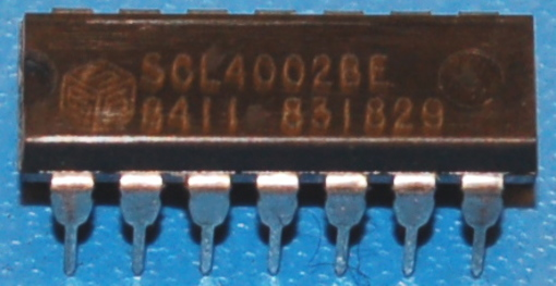 4002BE CMOS Dual 4-Input NOR Gate, DIP-14