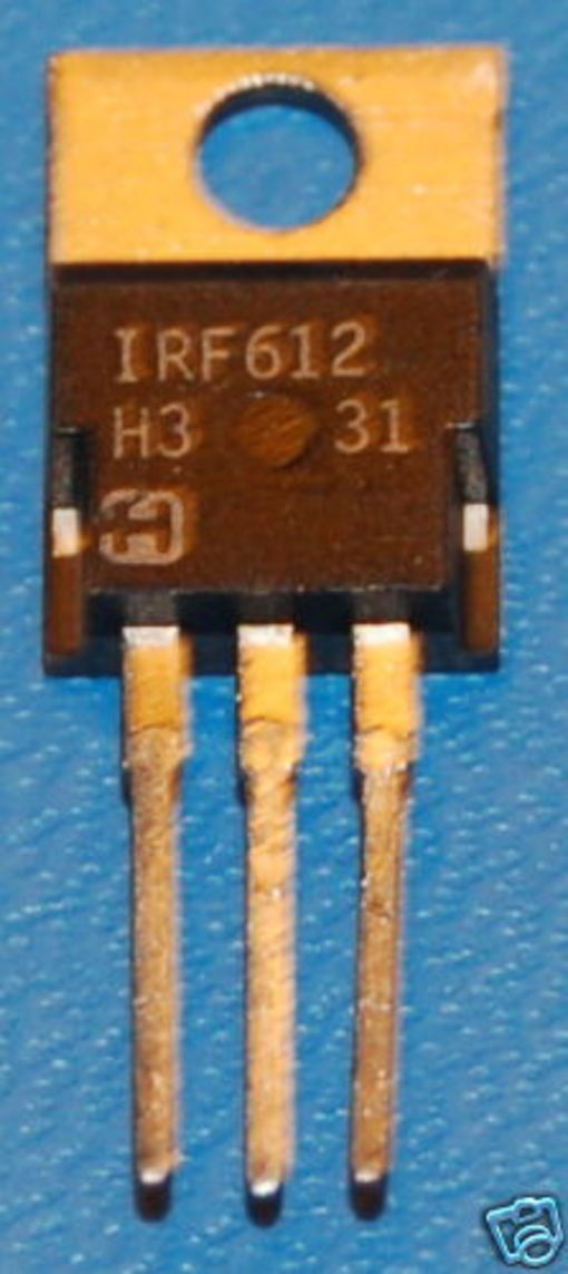 IRF612 N-Channel Power MOSFET, 200V, 2A, TO-220AB