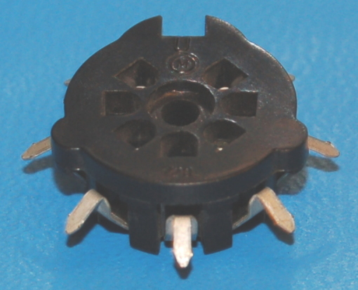 Vacuum Tube Socket, 7-Pos Miniature, PCB-mount (#1)