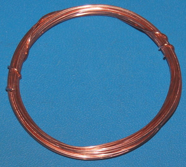 "Solid Bare Copper Wire #20 (.032""/.81mm) x 20'"