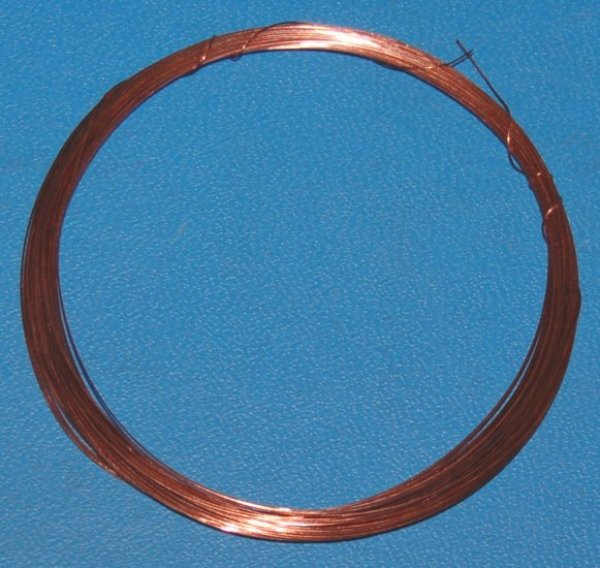 "Solid Bare Copper Wire #28 (.013""/.33mm) x 100'"