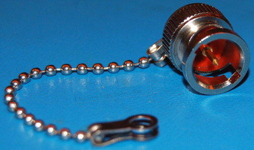 "BNC Connector Cap with 3"" Ball Chain"