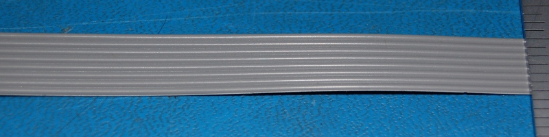 Flat Ribbon Cable, 28 AWG, 300V, 8-Position, 10'